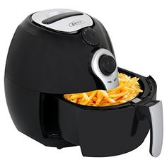ZENY Electric Air Fryer For Healthy Oil Free Cooking - 3.5 Liter Capacity 1500W w/ Cookbook, Dishwasher Safe Parts