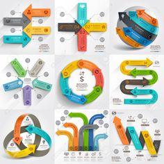 矢印ビジネス マーケティング インフォ グラフィック テンプレート。ベクトル イラスト。ワークフローのレイアウト、バナー、図、番号のオプション、web デザイン、タイムラインの要素に使用できます。