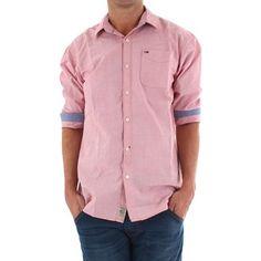 Tommy Hilfiger Camisa manga larga Camisa Tommy Rosa para hombre - YoElijoElPrecio.com