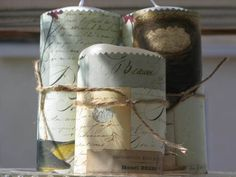 Crafty Creations: Cavallini Paper Wrapped Candles