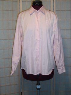 Liz Claiborne Sz S Petite Pink 100% Cotton Button Front Shirt Top #LizClaiborneLizsport #ButtonDownShirt