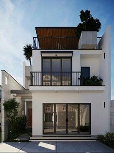 Minimal House Design, Modern Small House Design, Modern Exterior House Designs, Modern House Plans, Contemporary Design, 2 Storey House Design, Duplex House Design, House Front Design, House Architecture Styles