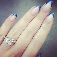 Icy blue stiletto nails