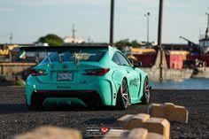 Turquoise Rocket Bunny Lexus RC F with Vossen Wheels – automotive99.com