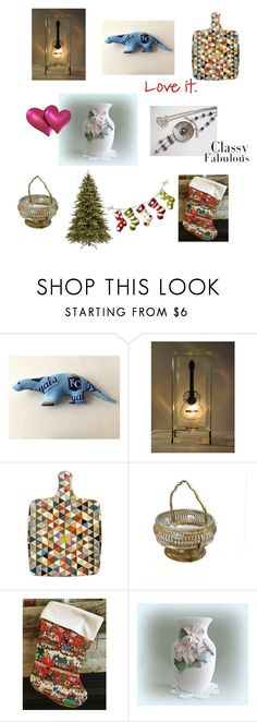 """""""Shop Etsy"""" by afloralaffair-1 on Polyvore featuring interior, interiors, interior design, home, home decor, interior decorating, National Tree Company, kitchen and vintage"""