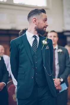 Eclectic London Pub Wedding Pattern Tie Groom http://storyandcolour.co.uk/