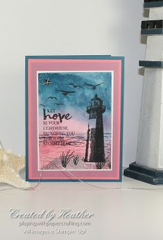 Playing with Papercrafting: Hope is a Lighthouse for As You See It Challenges