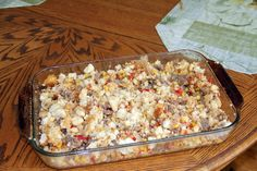 Mexican breakfast or dinner casserole that will use up leftover cornbread (which often goes to waste in my house, sad to say)