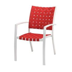 Patio Strap Chair in Red