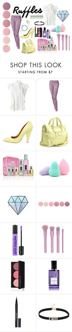 """""""Pastels and Ruffles"""" by foreverdecadent ❤ liked on Polyvore featuring Lanvin, Mulberry, Balenciaga, Clinique, Forever 21, Unicorn Lashes, Deborah Lippmann, NYX, Diana Vreeland and Stila"""