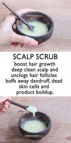 Pelo Natural, Natural Hair Care, Natural Beauty, Natural Oils For Hair, Natural Hair Growth Tips, Scalp Scrub, Exfoliate Scalp, Oil For Hair Loss, Unwanted Hair