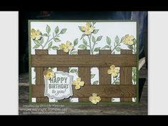 Absolutely beautiful card! Create a fence background for your greeting card - YouTube
