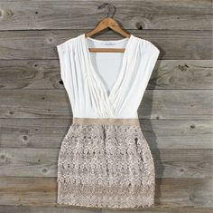 Tucked Lace Dress