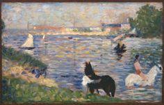 Seurat, Horses in the Water