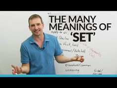 "Learn ""Set"" Vocabulary, Idioms, and Phrasal Verbs! · engVid"