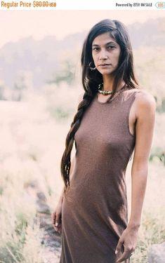 Hemp Cotton Dress ~ Brown
