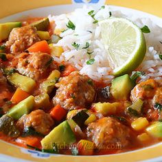 Albondigas - an easy version of the authentic Mexican meatball soup.