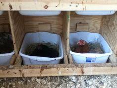 Nest box idea, easily cleaned!