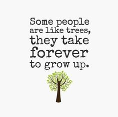some people never grow up quotes | Some people are like trees, they take forever to grow up. ... | Quote ...