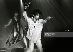Prince and Mayte perform on stage on the Act II Tour,Brabant hallen, Den Bosch, Netherlands, 9th August 1993.