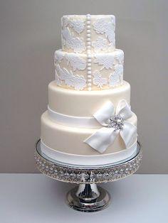 Elegant wedding cake TOP DRESS BOTTOM BOW TIE