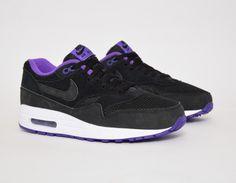 #Nike Air Max 1 Wmns Black/Purple #sneakers