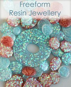 Freeform Resin Beads And Pendants  •  Free tutorial with pictures on how to make jewelry in 16 steps