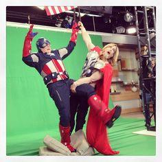 You'll always be my Captain America @samchampionabc