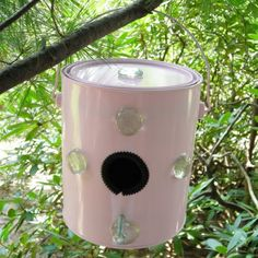paint can bird house