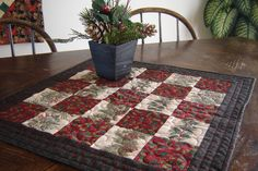 Christmas Quilted Table Runner Red & Green. $28.00, via Etsy.