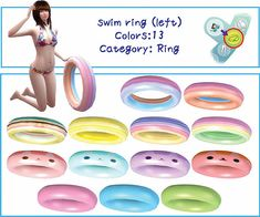 Swim ring at A-luckyday via Sims 4 Updates  Check more at http://sims4updates.net/accessories/swim-ring-at-a-luckyday/