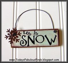 Today's Fabulous Finds: Printable Paint Stick Ornaments {Tutorial} Numerous winter and holiday words you can make out of paint sticks. Christmas Ornament Crafts, Christmas Signs, Christmas Projects, Simple Christmas, All Things Christmas, Winter Christmas, Holiday Crafts, Christmas Decorations, Holiday Signs