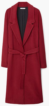 Womens carmine handmade coat from Mango - £139.99 at ClothingByColour.com