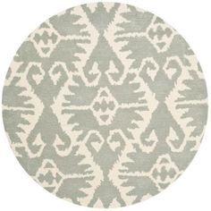 Safavieh Wyndham Grey/Ivory 7 ft. x 7 ft. Round Area Rug, Gray/Ivory