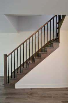 This is also true for that basement stairs. Cottage Staircase, Interior Staircase, Staircase Remodel, Modern Staircase, House Stairs, Stair Railing Design, Home Stairs Design, Staircase Railings, Stairways