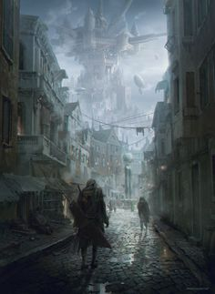 Midgar_market alley, Seungjin Woo on ArtStation at https://www.artstation.com/artwork/midgar_market-alley