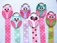 Owl Hair Bow Holder with Polka Dot Ribbon. $4.95, via Etsy.