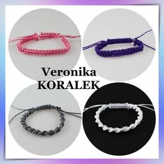 Simple, fast, but at the same time nice bracelets. I like them, because it is easy to combine them. Beaded Jewellery, Jewelry, Micro Macrame, Washer Necklace, Nice, Craft, Simple, Bracelets, Easy