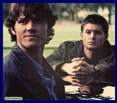 Jensen Ackles     Jared Padalecki   Flashback to season 1.  I am going to bed. I will be here later today to kick of New Year's Eve with you all. Talk to you all later today.   ~Mama Winchester/Melissa
