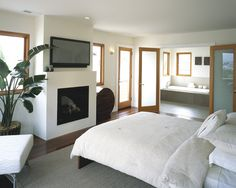 fireplace looks good.  Stain Grade Interior Doors Design, Pictures, Remodel, Decor and Ideas
