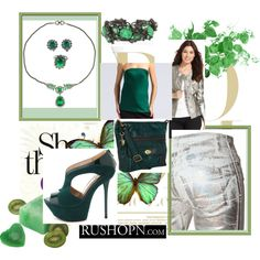 Slytherin 2 by dagger-seishin on Polyvore featuring Lanvin, KUT from the Kloth, Just Cavalli, Charlotte Russe, FOSSIL, Alice Joseph Vintage, Erickson Beamon and Bodas