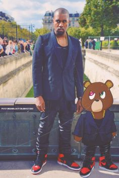 Kanye West- Habitual Line Crosser and favorite Rapper. I admire his grind and the way he displays his heart and imagination to the masses.