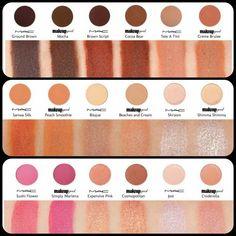 MakeupGeek eyeshadow dupes for Mac eyeshadows Mac Eyeshadow Swatches, Mac Lipstick Dupes, Makeup Geek Eyeshadow, Mac Dupes, Makeup Swatches, Makeup Dupes, Makeup Brands, Makeup Cosmetics, Eyeshadows
