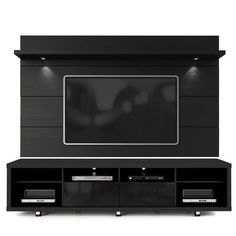 Lowest price online on all Manhattan Comfort Cabrini Series TV Stand and Panel in Black - Tv Stand And Panel, Tv Panel, Living Room Tv, Living Room Furniture, Garden Furniture, Floating Entertainment Center, Entertainment Units, Lcd Wall Design, Tv Unit Furniture Design