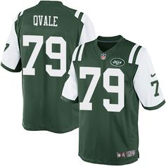 Men's Nike New York Jets #79 Brent Qvale Limited Green Team Color NFL Jersey