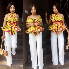 Latest Ankara Tops for ladies version) - Esther Adeniyi African Print Dresses, African Print Fashion, African Fashion Dresses, African Dress, Ankara Fashion, African Attire, African Wear, African Women, African Style