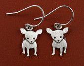 Tiny chihuahua earrings