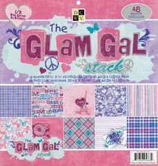 Die Cuts with a View - The Glam Gal Collection - Glitter Paper Stack - 12 x 12, $19.99