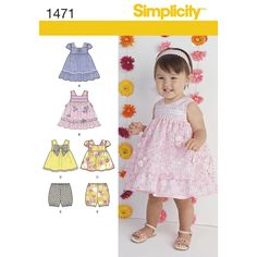 delicate trim and lace make the perfect feminine outfit for any occasion. dress   can be made with short sleeves, or sleeveless. add layers of tulle for a special occasion, or make top and bloomers for some   playtime fun.<p>