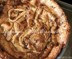 ~Cinnamon Roll Brownies!